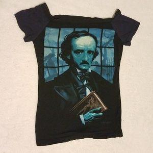 Evil Needles Edgar Allan Poe reconstructed tee